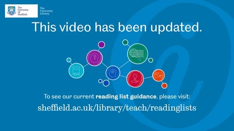 Thumbnail for entry 3 Adding resources from the University Library to a Resource List