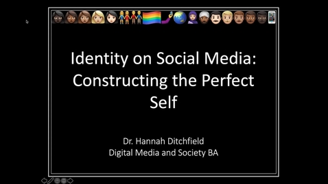Thumbnail for entry Taster Lecture: Constructing the Perfect Self