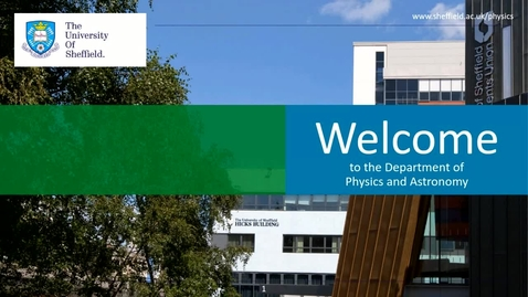 Thumbnail for entry Physics and Astronomy - Applicant Day talk