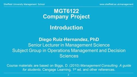 Thumbnail for entry Postgraduate Management Taster Lecture | Sheffield University Management School