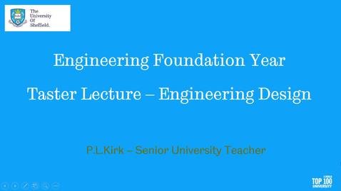 Thumbnail for entry SEFY Taster Lecture