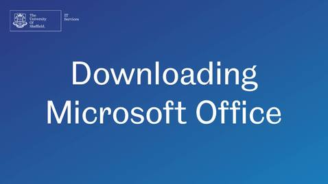 Thumbnail for entry How to download Microsoft Office