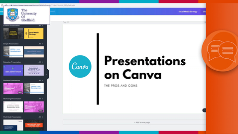 Thumbnail for entry Presentations on Canva
