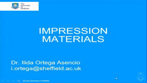 Thumbnail for entry Impression Materials 1 - Quiz
