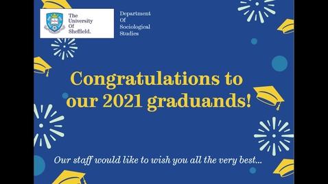 Thumbnail for entry Sociological Studies summer graduation 2021