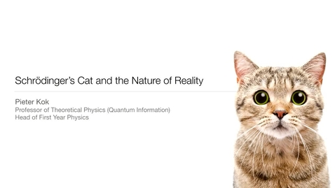 Thumbnail for entry Schrodinger's cat and the nature of reality – taster lecture