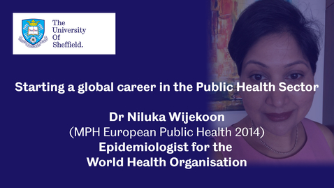 Thumbnail for entry Sheffield Insights - Dr Niluka Wijekoon