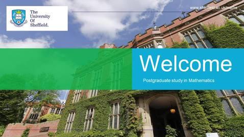 Thumbnail for entry Postgraduate study in Mathematics - MSc Mathematics (MAST30)