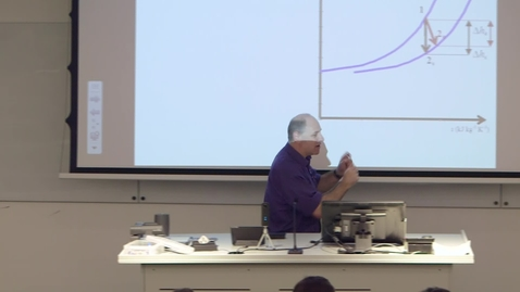 Thumbnail for entry Professor Stephen Beck Thermodynamics Lecture 2