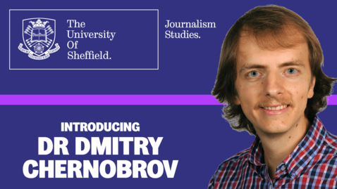 Thumbnail for entry Introducing... Dr Dmitry Chernobrov