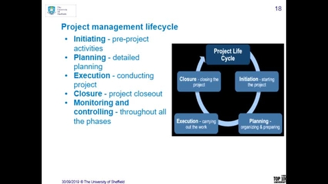 Thumbnail for entry Project Management Introduction