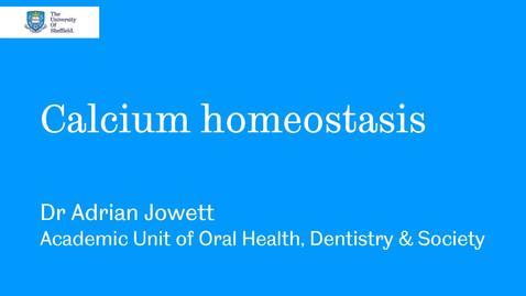 Thumbnail for entry Calcium homeostasis 2020