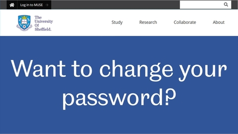 Thumbnail for entry Change your password