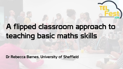 Thumbnail for entry A flipped classroom approach to teaching basic maths skills