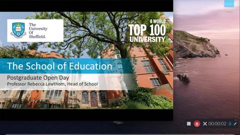 Thumbnail for entry Welcome to the School of Education, Professor Rebecca Lawthom (Head of School)