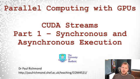 Thumbnail for entry Lecture 17 - Part 01 - Synchronous and Asynchronous Execution