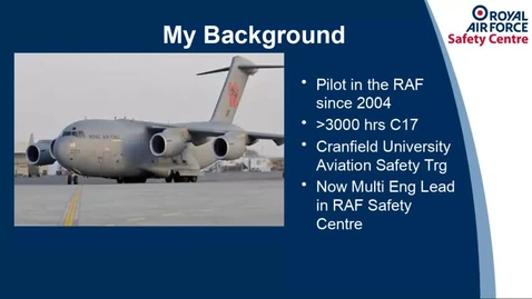 Thumbnail for entry Aerospace Guest Lecture - 5 May 2021 Mike Kitching Safety Management Systems and Flight Data Monitoring