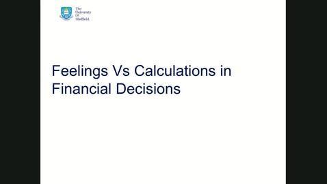 Thumbnail for entry Behavioural finance session