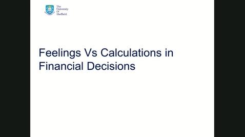 Thumbnail for entry Behavioural finance session