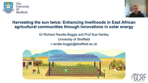 Thumbnail for entry Harvesting the sun twice: Enhancing livelihoods in East African agricultural communities through innovations in solar energy