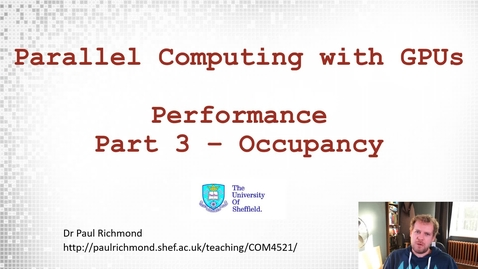 Thumbnail for entry Lecture 11 - Part 03 - Occupancy