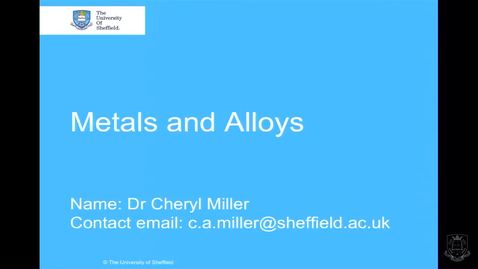 Thumbnail for entry Metals and Alloys - Quiz