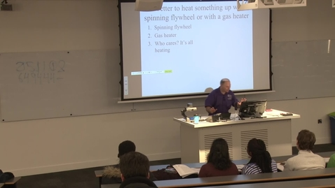 Thumbnail for entry Professor Stephen Beck Thermodynamics Lecture 1