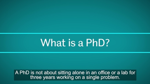 Thumbnail for entry A short introduction to PhD study