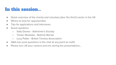 Thumbnail for entry Careers In...Charities and the voluntary sector