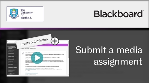 Thumbnail for entry How to submit a media assignment to Blackboard
