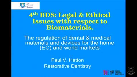 Thumbnail for entry Legal and Ethical Issues in Dental Materials - Quiz