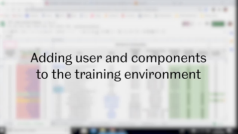 Thumbnail for entry SST Admin: Video 2 - Adding user and components to the New CMS training environment.