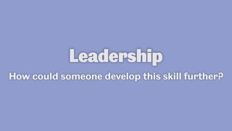 Thumbnail for entry Leadership 3