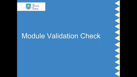 Thumbnail for entry CUR Module structure for validation exercise (3 Oct 18)