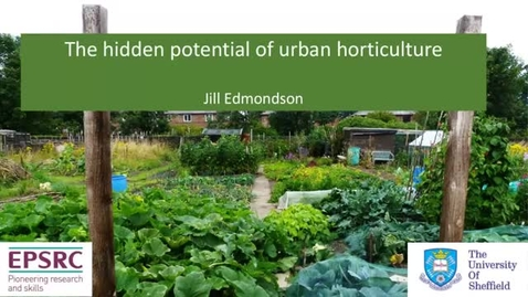 Thumbnail for entry The hidden potential of urban horticulture