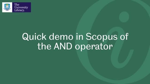 Thumbnail for entry AND operator (Scopus)