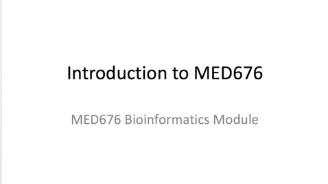 """Thumbnail for entry What is """"Bioinformatics""""?"""