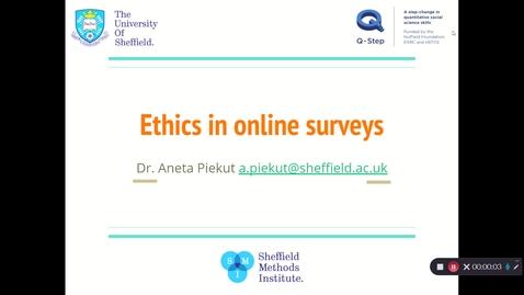 Thumbnail for entry Ethics in online surveys