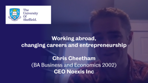 Thumbnail for entry Sheffield Insights - Chris Cheetham