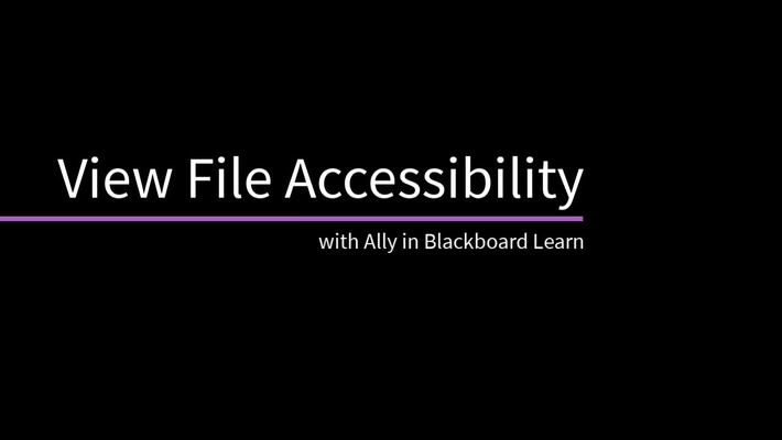 View File Accessibility with Ally in Blackboard Learn