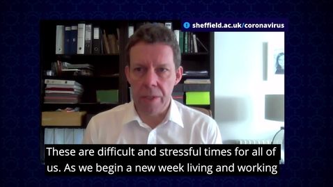 Thumbnail for entry COVID-19: Message from Vice-Chancellor Professor Koen Lamberts