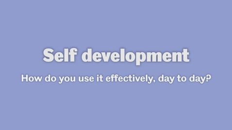 Thumbnail for entry Self development 2