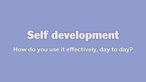 Thumbnail for entry Self development 2
