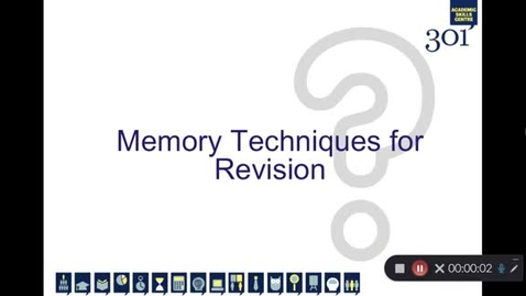 Thumbnail for entry Memory Techniques for Revision
