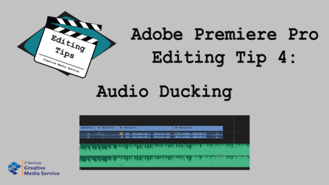 Thumbnail for entry Adobe Premiere Pro: Audio Ducking