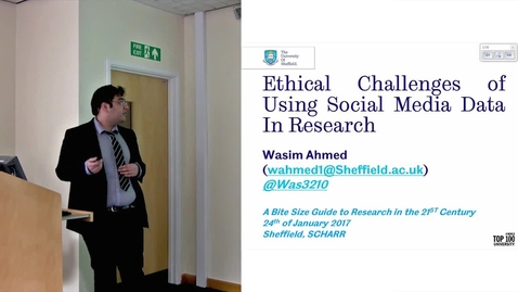 Thumbnail for entry Wasim Ahmed - Ethics of Social Media Data