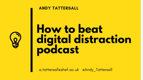 Thumbnail for entry How to Beat Digital Distraction