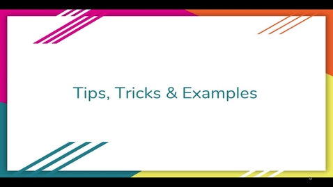 Thumbnail for entry Webinar Tips and Tricks