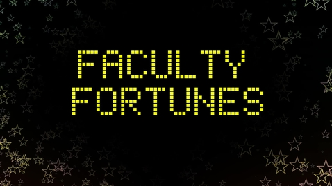 Thumbnail for entry Faculty Fortunes at TELFest