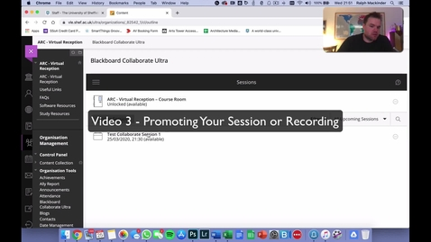 Thumbnail for entry Blackboard Collaborate Guide 3 - Sharing Sessions and Recordings